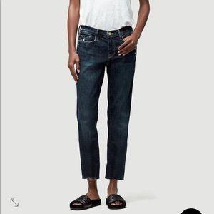 FRAME DENIM Le Garcon Crop Jeans Size 27